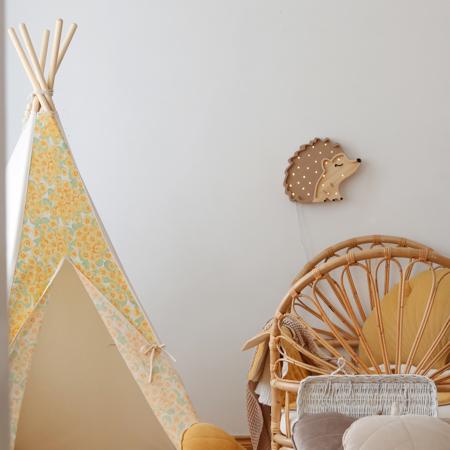 Picture of Little Lights® Handmade wooden lamp Hedgehog
