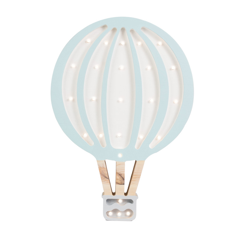 Picture of Little Lights® Handmade wooden lamp Hotairbaloon Blue Sky