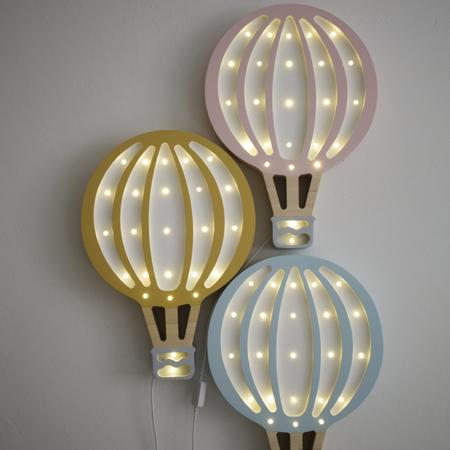 Picture of Little Lights® Handmade wooden lamp Hotairbaloon Mustard