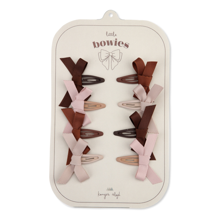 Picture of Konges Sløjd® 8-pack Hair Clips Bow Blush