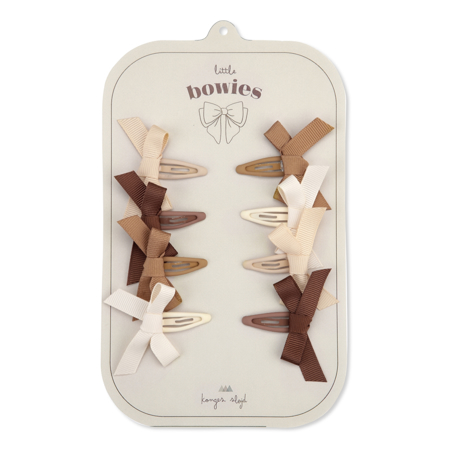 Picture of Konges Sløjd® 8-pack Hair Clips Bow Caramel Mix