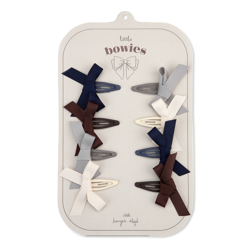 Picture of Konges Sløjd® 8-pack Hair Clips Bow Harlequin