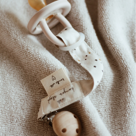 Picture of Konges Sløjd® Pacifier strap muslin Blue Blossom Mist