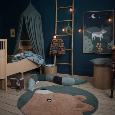 Sebra® Knitted cushion Sleepy Croc Hazy Blue