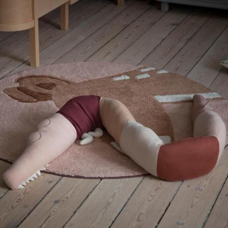 Sebra® Knitted cushion Sleepy Croc Dreamy Rose