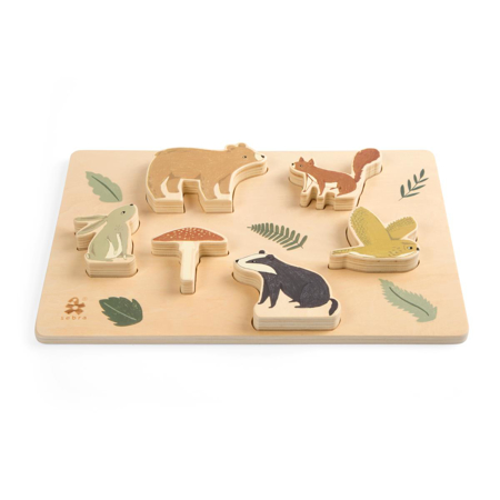 Picture of Sebra® Wooden chunky puzzle Nightfall