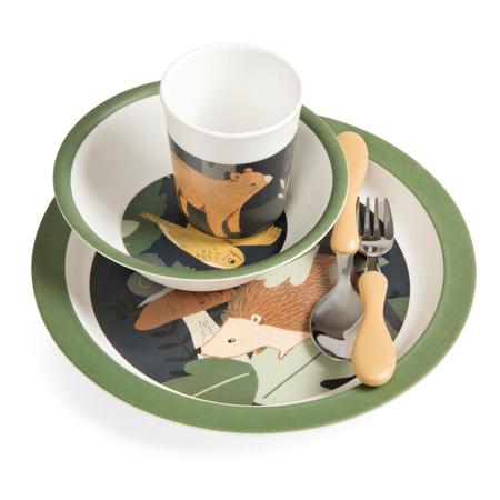 Picture of Sebra® Melamine dinner set Nightfall Midnight Green