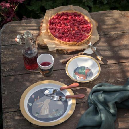 Picture of Sebra® Melamine dinner set Nightfall Moonlight Gold