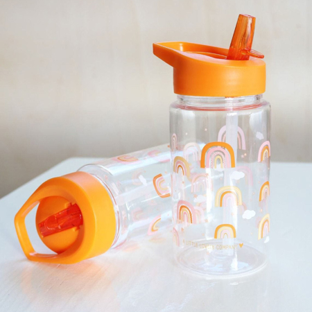 Picture of A Little Lovely Company® Drink Bottle Rainbows