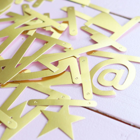 Picture of A Little Lovely Company® Letter Banner Gold