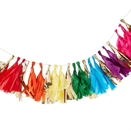 Picture of Ginger Ray® Over The Rainbow Tassel Garland