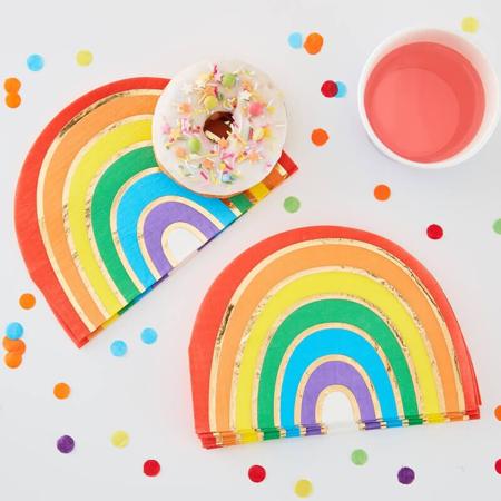 Ginger Ray® Napkins Rainbow Gold