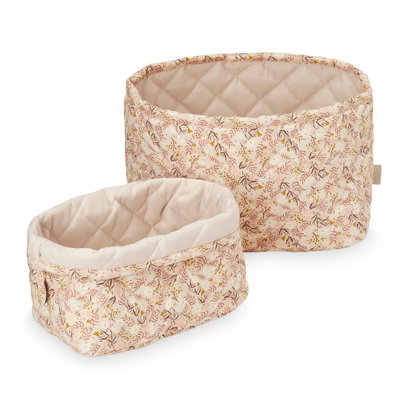 Picture of CamCam® Quilted Storage Baskets Aurora/Shell