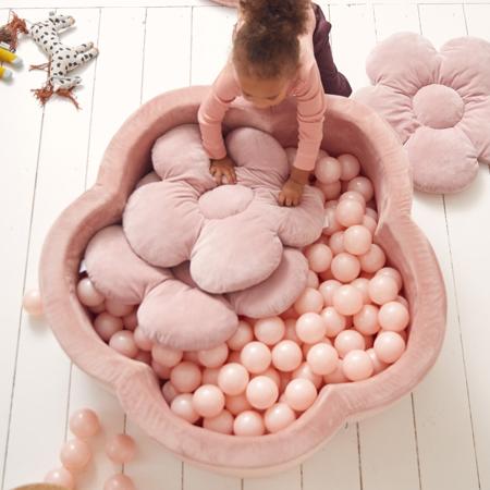 Kidkii® Pillow set Flowet Velvet Pink 3 pcs.