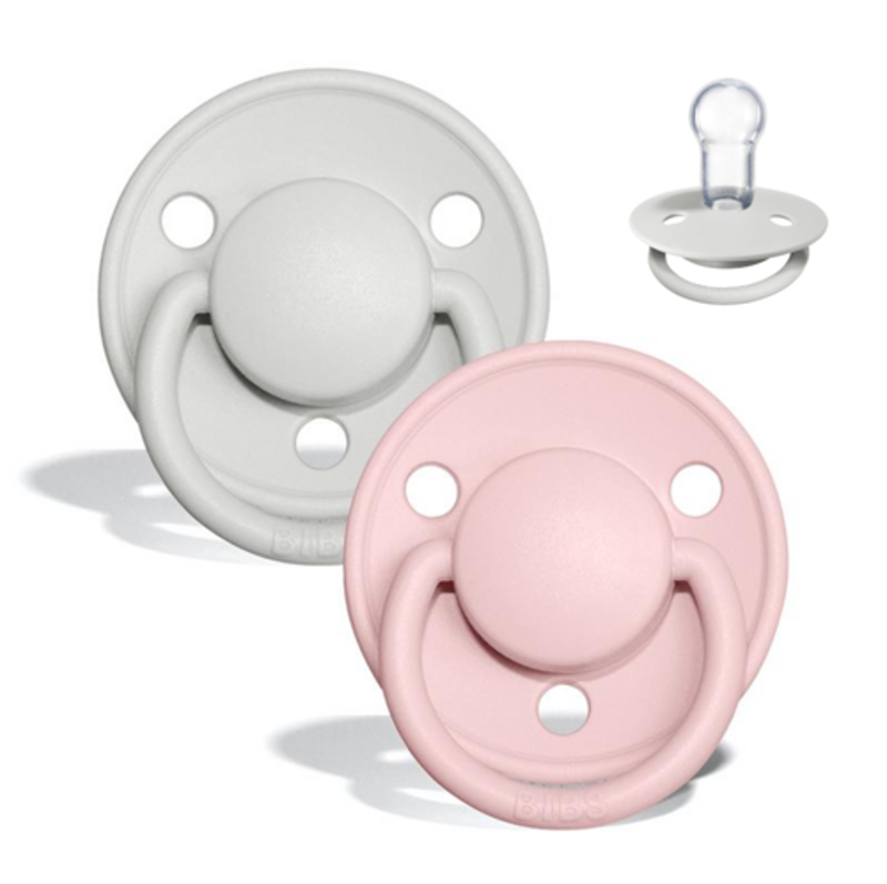 Picture of Bibs® Baby Pacifier De Lux Silicone Haze & Blossom (0-36m)