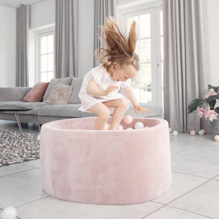Picture of Kidkii® Ball pit Round Rose 90x40 Pearl