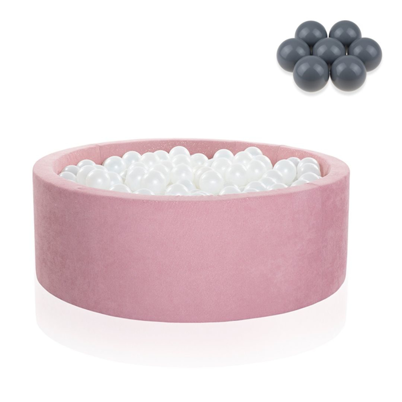 Picture of Kidkii® Ball pit Round Rose 90x40 Grey