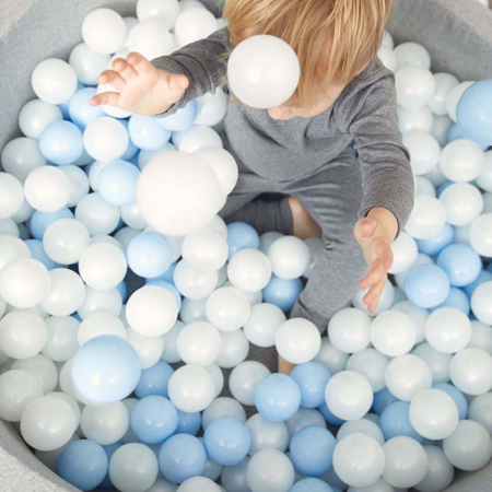 Picture of Kidkii® Ball pit Round Grey 90x40 Blue