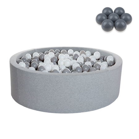 Picture of Kidkii® Ball pit Round Grey 90x40 Grey