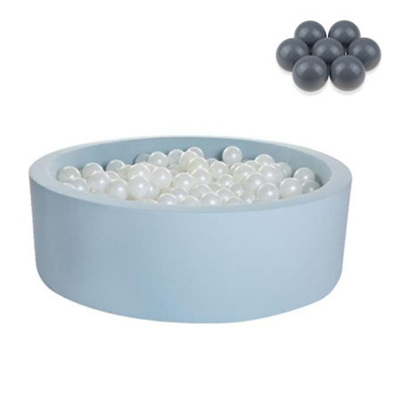 Picture of Kidkii® Ball pit Round Blue 90x30 Grey