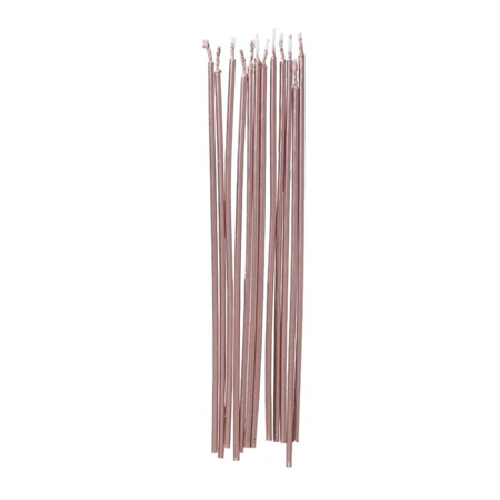 Ginger Ray®  Tall Rose Gold Cake Candles 12 pcs