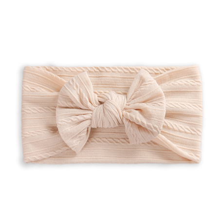 Picture of Elastic Cable bow Headband BOHO Sand