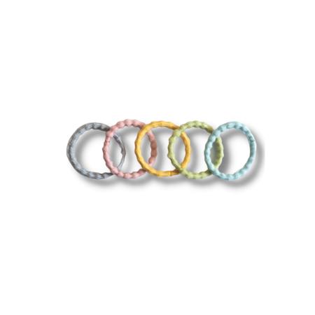 Picture of Elastic Hand Bands Pastel Mix Ø1.5cm 100 pcs.