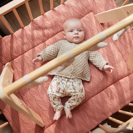 Picture of Jollein® Playpen mat Spring Knit 100x80 Rosewood