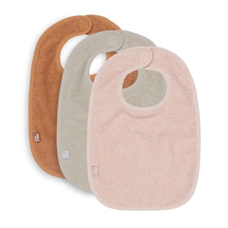 Picture of Jollein® Bib Terry - Pale Pink/Nougat/Caramel - 3 Pieces