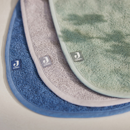 Picture of Jollein® Bib Terry - Green/Storm Grey/Jeans Blue - 3 Pieces