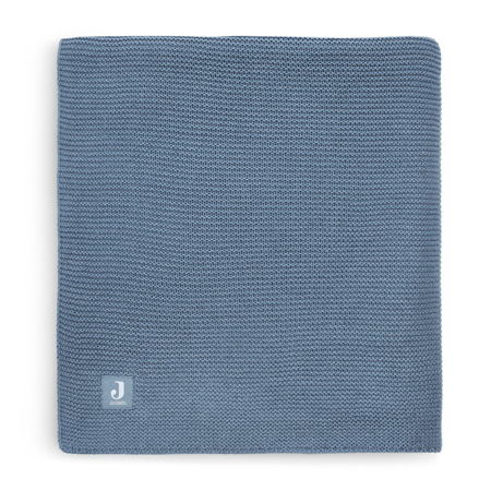 Picture of Jollein® Crib Blanket Basic Knit Jeans Blue 100x75