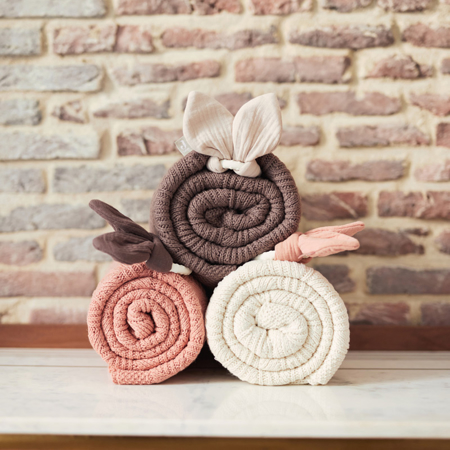 Picture of Jollein® Crib Blanket Spring Knit Rosewood 100x75