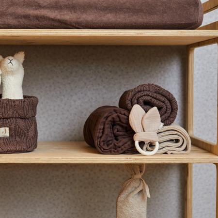 Picture of Jollein® Crib Blanket Spring Knit Chestnut 100x75