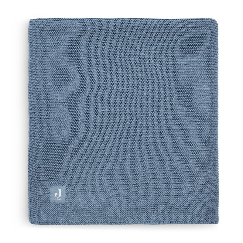 Picture of Jollein® Crib Blanket Basic Knit Jeans Blue 150x100