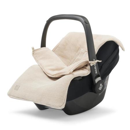 Jollein® Footmuff for Car Seat & Stroller Basic Knit Nougat