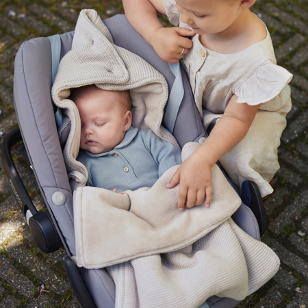 Picture of Jollein® Footmuff for Car Seat & Stroller Basic Knit Nougat