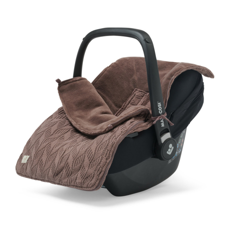 Jollein® Footmuff for Car Seat & Stroller Basic Knit Chestnut