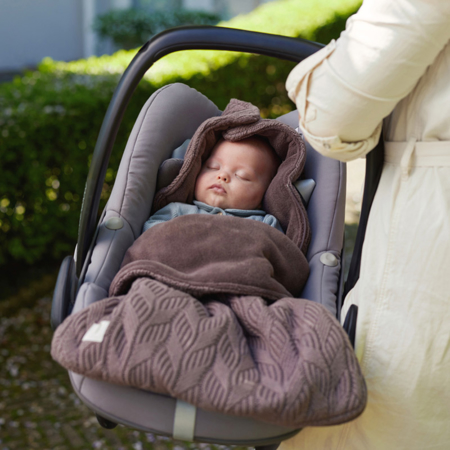 Picture of Jollein® Footmuff for Car Seat & Stroller Basic Knit Chestnut