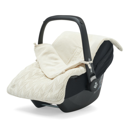 Jollein® Footmuff for Car Seat & Stroller Basic Knit Ivory