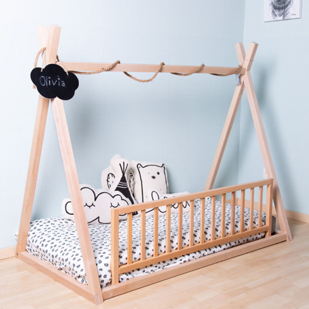 Picture of Childhome® Big Tipi Bedframe 200x90 Natur