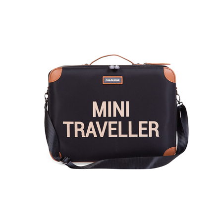 Childhome® Kids Suitcase Mini Traveller Black and Gold