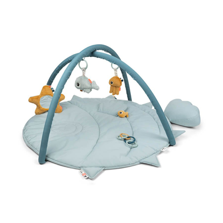 Picture of Done by Deer® Activity Play mat Sea friends Blue