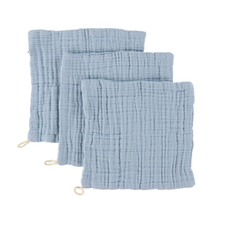 Picture of Sebra® Washcloth 3 pcs Powder Blue 20x20