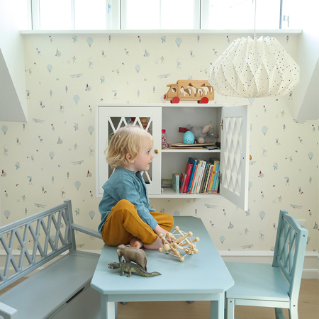 Picture of CamCam® Harlequin Kids Table - FSC Dusty Rose