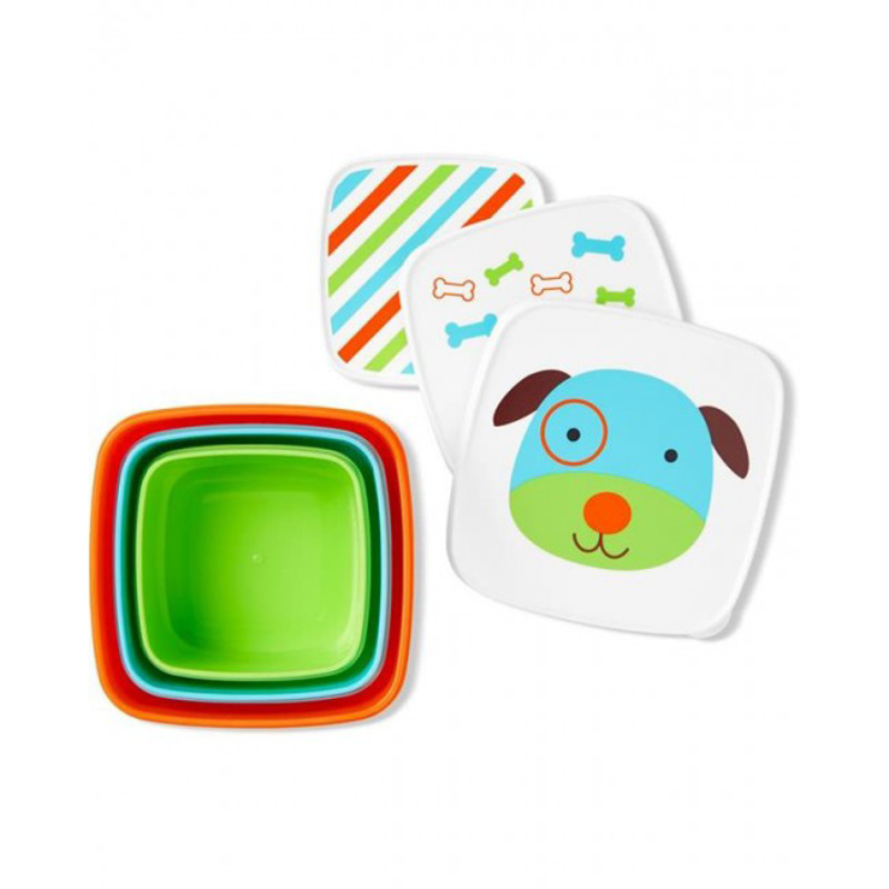 Picture of Skip Hop® Set of snack boxes  Dog