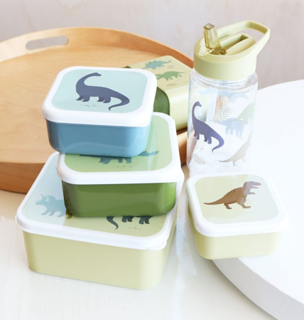 A Little Lovely Company® Lunch & snack box set Dinosaurs