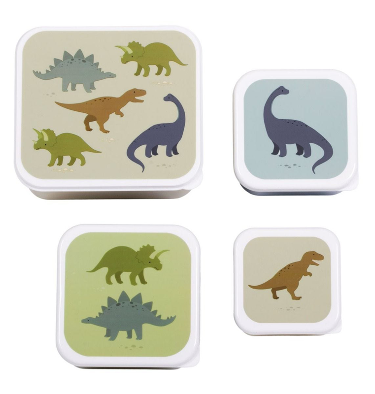 Picture of A Little Lovely Company® Lunch & snack box set Dinosaurs