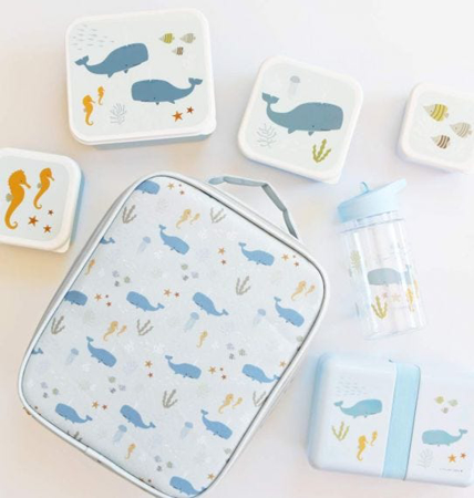 Picture of A Little Lovely Company® Lunch & snack box set Ocean