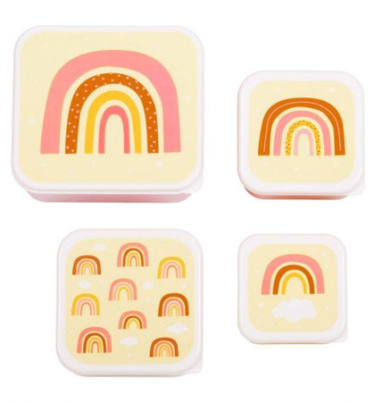 Picture of A Little Lovely Company® Lunch & snack box set Rainbow