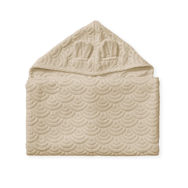 Picture of CamCam® Towel Junior Hooded w/ ears GOTS Almond 70x130